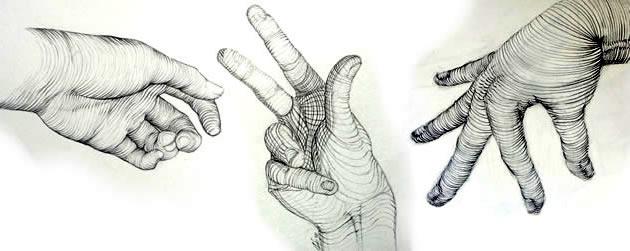 cross-contour-drawing-hands
