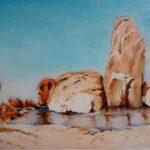 rocce e mare - olio alla prima